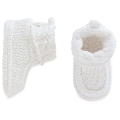 Baby White Knit Boots