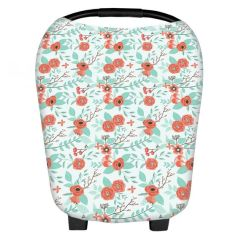 """Baby Car Seat Cover & Multi-Use Nursing Cover 5 in 1 Canopy """"Annabelle"""" by Belle & Baby"""