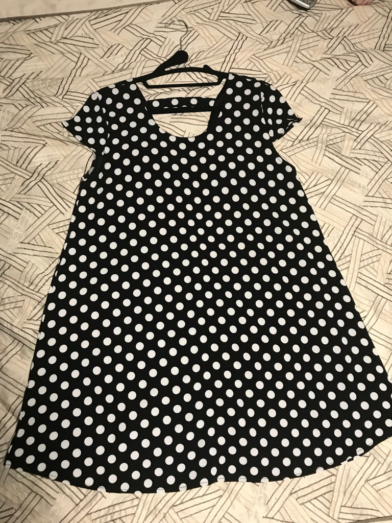 Black polka dress- Francescas