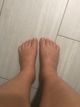 my feet by the end of the day